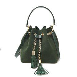 New Handbag Crossbody Drawstring Simple Tassel Bucket Bag -