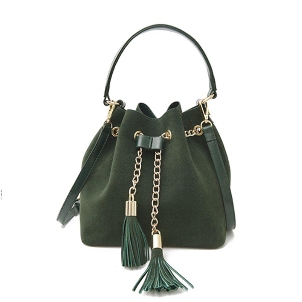 Affordable New Handbag Crossbody Drawstring Simple Tassel Bucket Bag