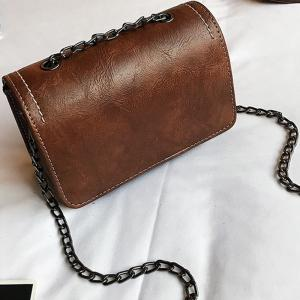 Simple Atmospheric Chain Square Messenger Bag -