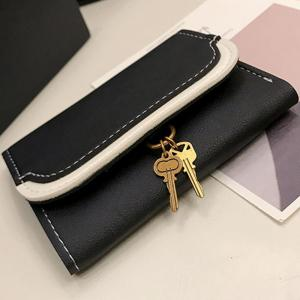 Small Key Color Splicing Short Purse -