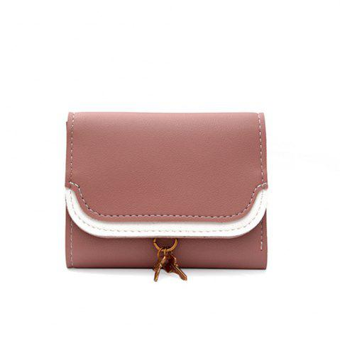 Outfits Small Key Color Splicing Short Purse