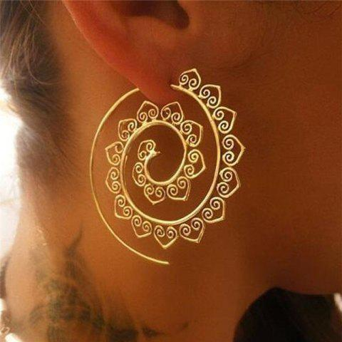 New Exaggerated Women Round Rotation Earrings