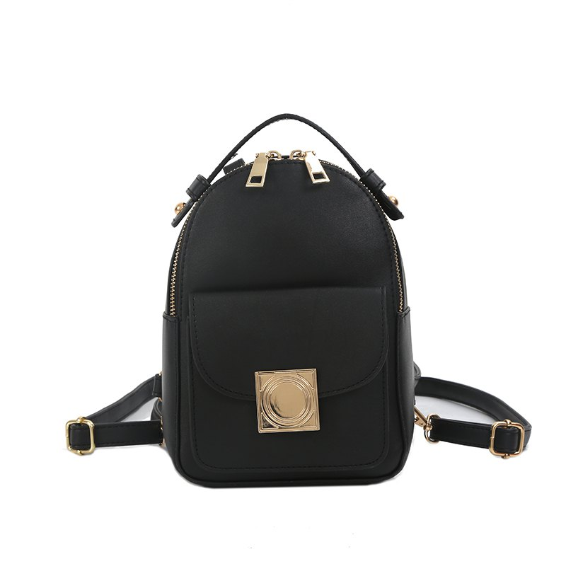 Shops The Double Shoulder Bag Female Knapsack in The New Style of The New Fashion The Women's Single Shoulder Double Back