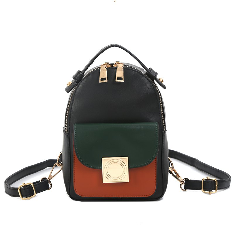 Best The Double Shoulder Bag Female Knapsack in The New Style of The New Fashion The Women's Single Shoulder Double Back