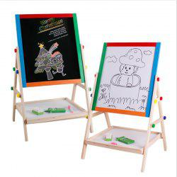 solid wood double-sided magnetic writing board small stenting drawing blackboard -