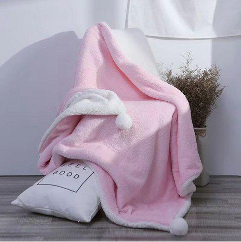 Outfits The Four-Horned Rabbit Hair Ball Decorated With Super Soft Lamb Blanket