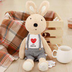 30CM Love Suspenders Plush Rabbit Toy Creative Doll -