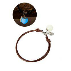 Women Ankle Chain Vintage All Matched Luminous Fashion Accessory YMJL-coffe -
