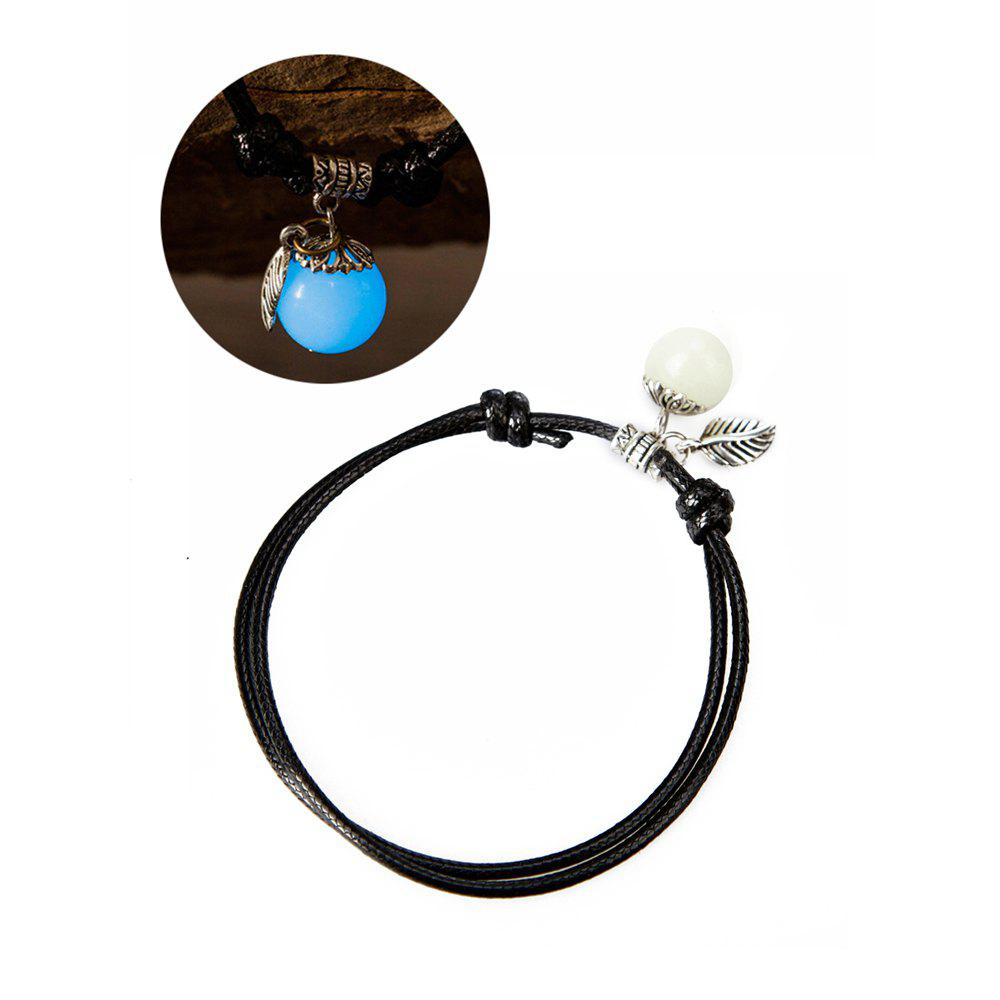 Shop Women Ankle Chain Vintage All Matched Luminous Fashion Accessory YMJL-Black