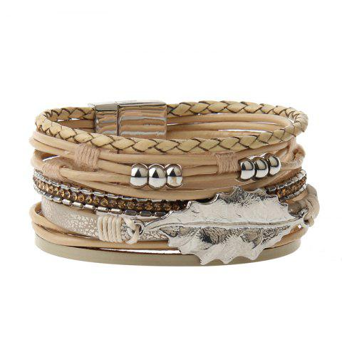 Shop The New Fashion All-match Cortical Multi-Level Small Fresh Leaves Beads Bracelet