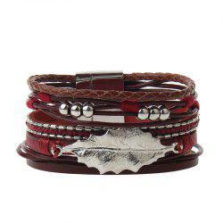 The New Fashion All-match Cortical Multi-Level Small Fresh Leaves Beads Bracelet -