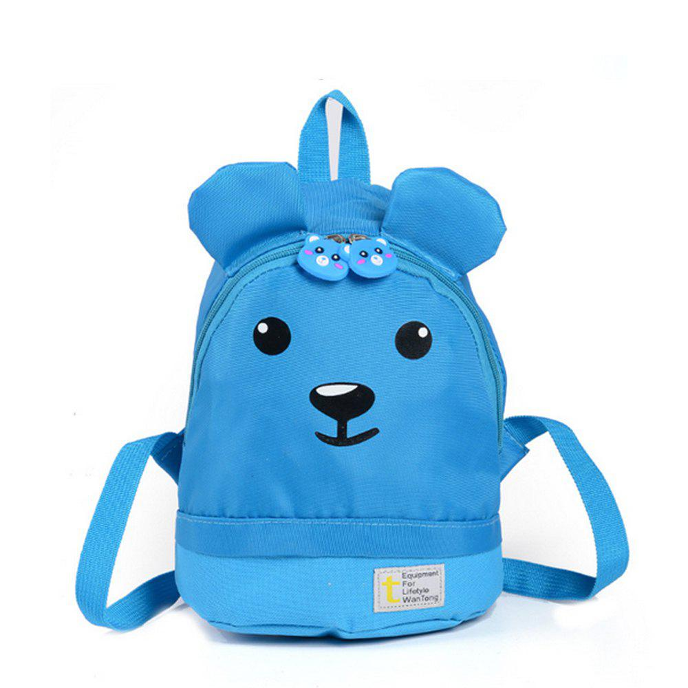 Outfit Kid Backpack Zip Closure Bear Pattern Cute Kids Bag