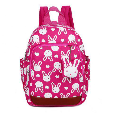Shop Girl School Bag Cartoon Rabbit Pattern Anti Lost Backpack