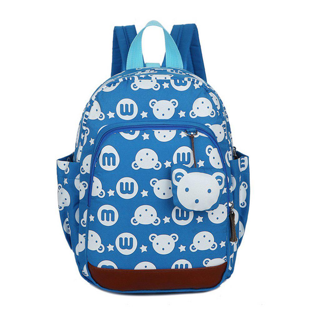 Unique Girl School Bag Cartoon Rabbit Pattern Anti Lost Backpack