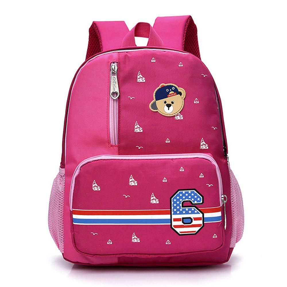 New Boy/GirlBackpack Bear Applique Backpack