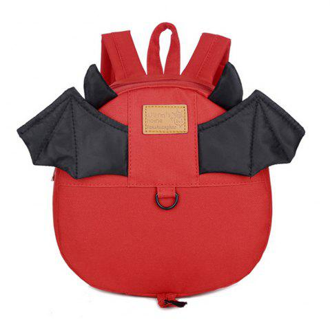 Fashion Kid Backpack Bat Pattern Anti Lost Cute Kids Bag
