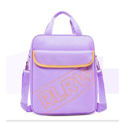 Kid Backpack Letter Zip Closure Multifunctional Kids Schoolbag -