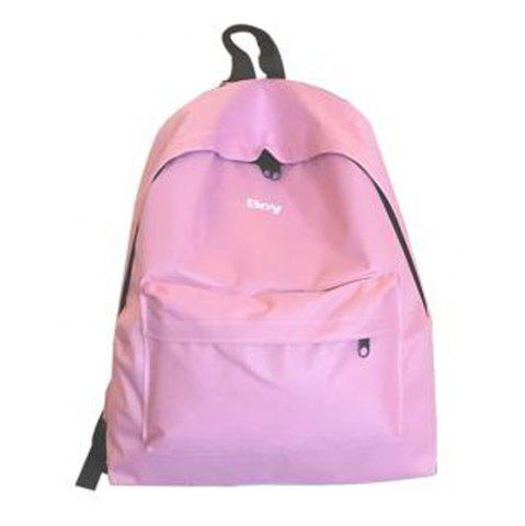 New Women's Backpack Solid Color Large Capacity Trendy School Bag