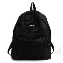 Women's Backpack Solid Color Large Capacity Trendy School Bag -