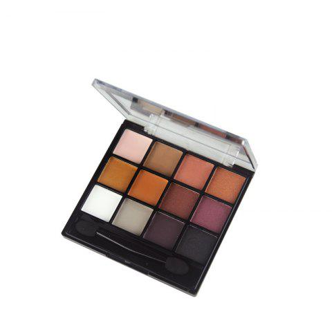Online GORON F2020 12 Colors Eye Shadow Palette Matte Shimmer Eye Makeup 1PC