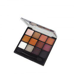 GORON F2020 12 Colors Eye Shadow Palette Matte Shimmer Eye Makeup 1PC -