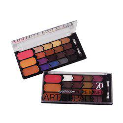GORON F2027 16 Colors Eye Shadow with 3 Colors Blusher Bronzer Palette 1PC -