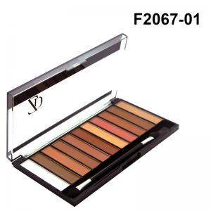 ZD F2067 11 Colors Shimmer Eye Shadow Blusher Palette 1pc -