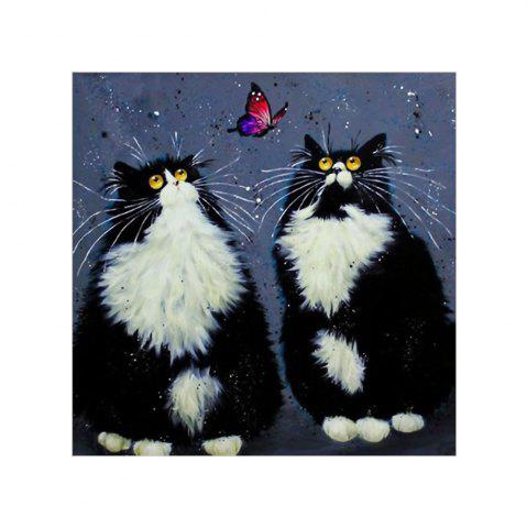 Outfits Naiyue 7129 Black Persian Cat Print Draw Diamond Drawing