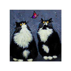 Naiyue 7129 Black Persian Cat Print Draw Diamond Drawing -