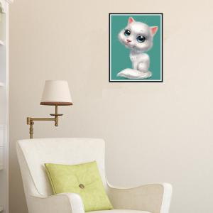 Naiyue 9001 White Cat Print Draw Diamond Drawing -