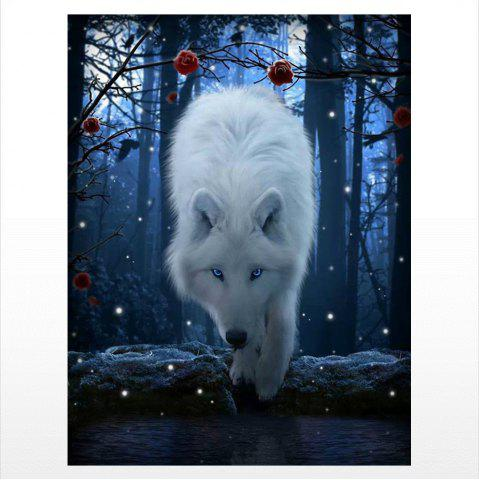 Online Naiyue 9710 Night Wolf Print Draw Diamond Drawing