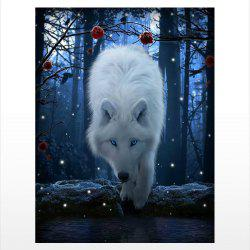Naiyue 9710 Night Wolf Print Draw Diamond Drawing -