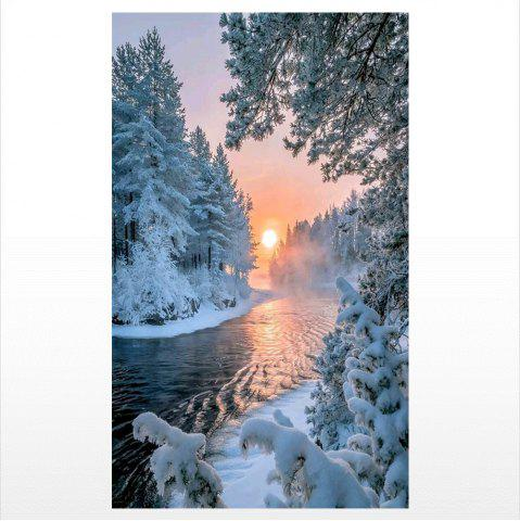 Latest Naiyue S123 Sunset Snow Scene Print Draw Diamond Drawing