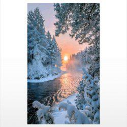 Naiyue S123 Sunset Snow Scene Print Draw Diamond Drawing -