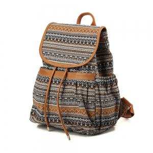 Colorful Canvas Backpack For Women & Girls Casual Book Bag Sports ...