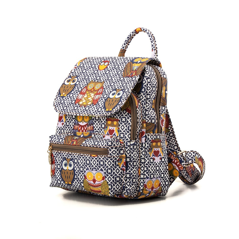 Sale Owl Backpack for Girls Cute Canvas Owl Backpack College Backpack