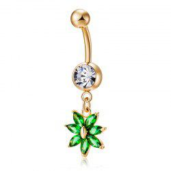Fashion Petal Zircon CZ Ring P0222 -