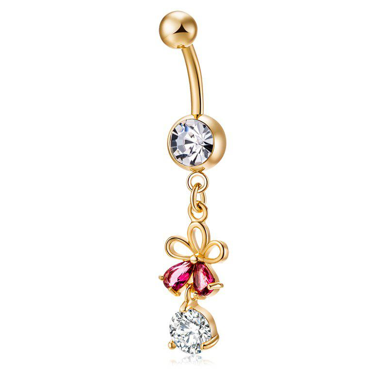 Fashion Fashion Hollowed Out Zircon Navel Ring P0223