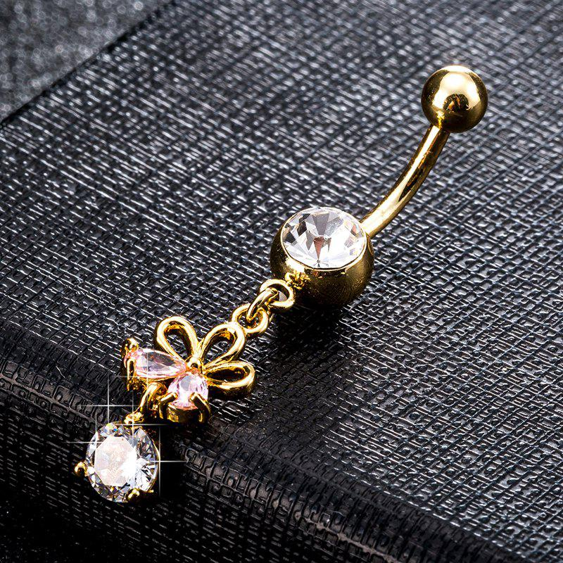 Outfit Fashion Hollowed Out Zircon Navel Ring P0223
