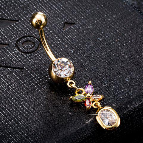 Shops Personality Butterfly Zircon Navel Ring P0224