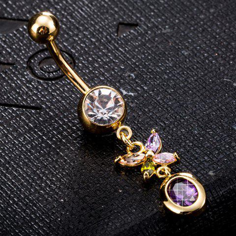 Shop Personality Butterfly Zircon Navel Ring P0224