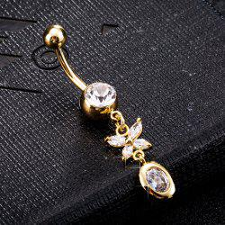 Personality Butterfly Zircon Navel Ring P0224 -