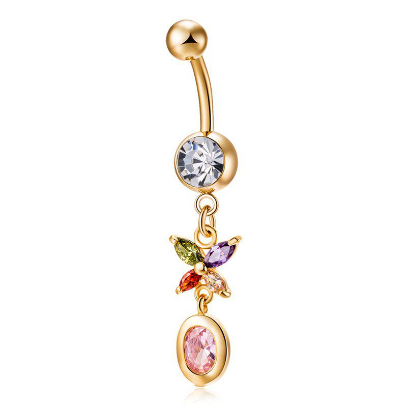 Outfits Personality Butterfly Zircon Navel Ring P0224
