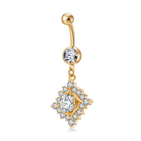 Mode Big Zircon Micro Réglage Navel Ring P0226