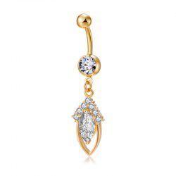 Concise Olive Zircon Navel Bague P0227 -