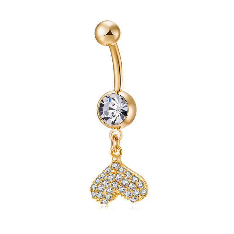 Fancy Fashion Micro Set Love Navel Ring P0232