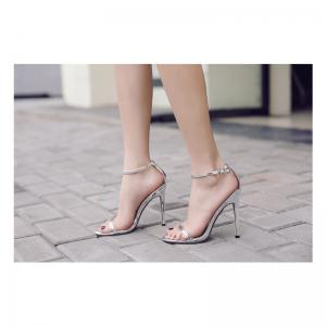 Women'S Rubber Sole Thin High-Heeled Sandal -