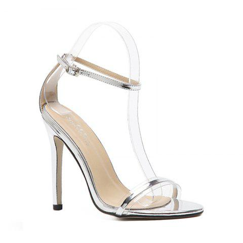 Latest Women'S Rubber Sole Thin High-Heeled Sandal
