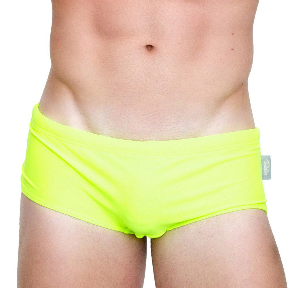 Affordable Taddlee New Sexy Men's Swimwear Swimsuits Swim Boxer Briefs Solid Pure Color Surf Board Trunks Swimming Bikini Sports