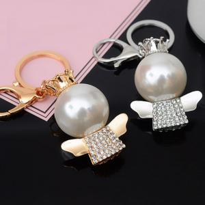 Fashion Great Pearl Ornament Set Auger Bag Buckles Auto Accessories Key Chain -